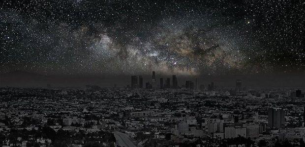 【星空】明かりを消した世界の都市から見える満天の星空