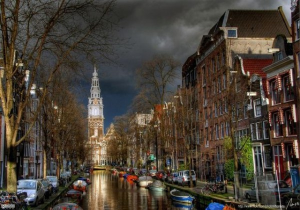 アムステルダムの街並み