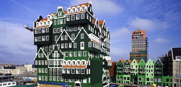 【インテル・ホテルズ】オランダにある家を積み上げて作られたユニークなホテル