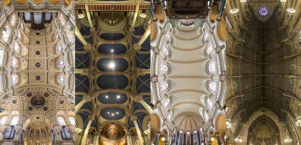 【教会】ニューヨークの教会の天井を180度撮影した圧巻のパノラマ写真